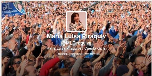Twitter oficial – Hna. María Luisa Piraquive
