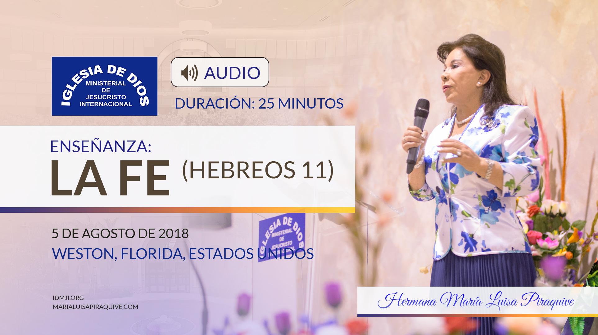 Audio enseñanza: La fe (Hebreos 11)