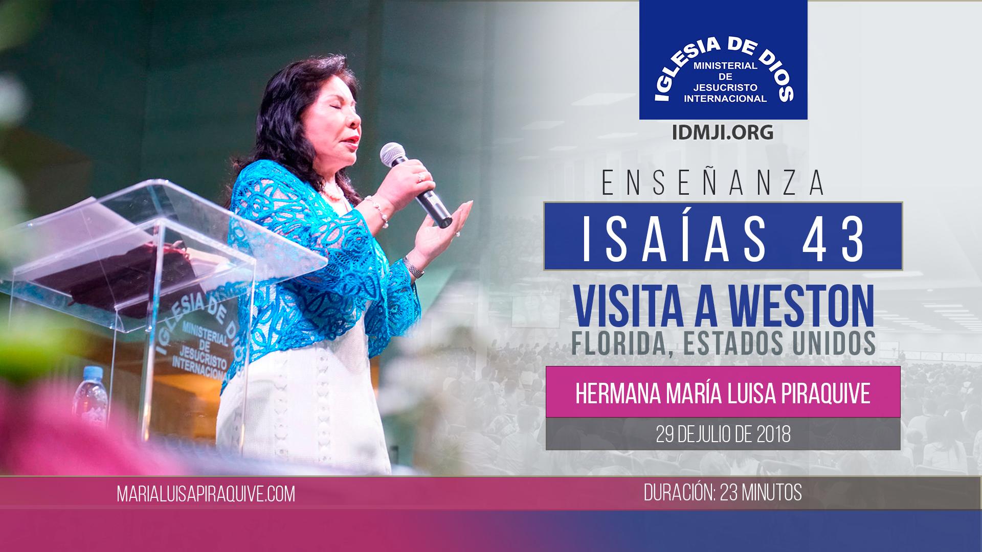Audio Enseñanza: Isaías 43 (Weston, FL, julio 2018)