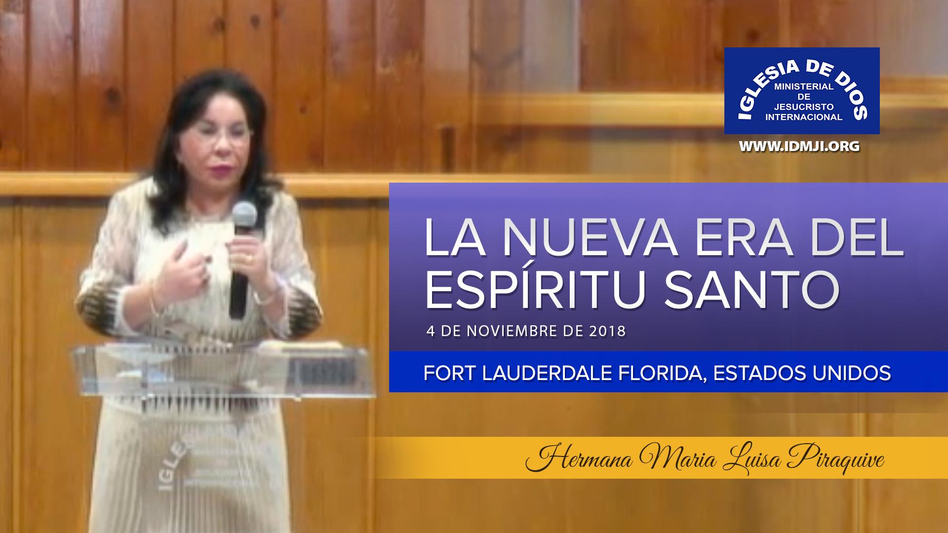 Enseñanza: La nueva era del Espíritu Santo – Hermana María Luisa Piraquive