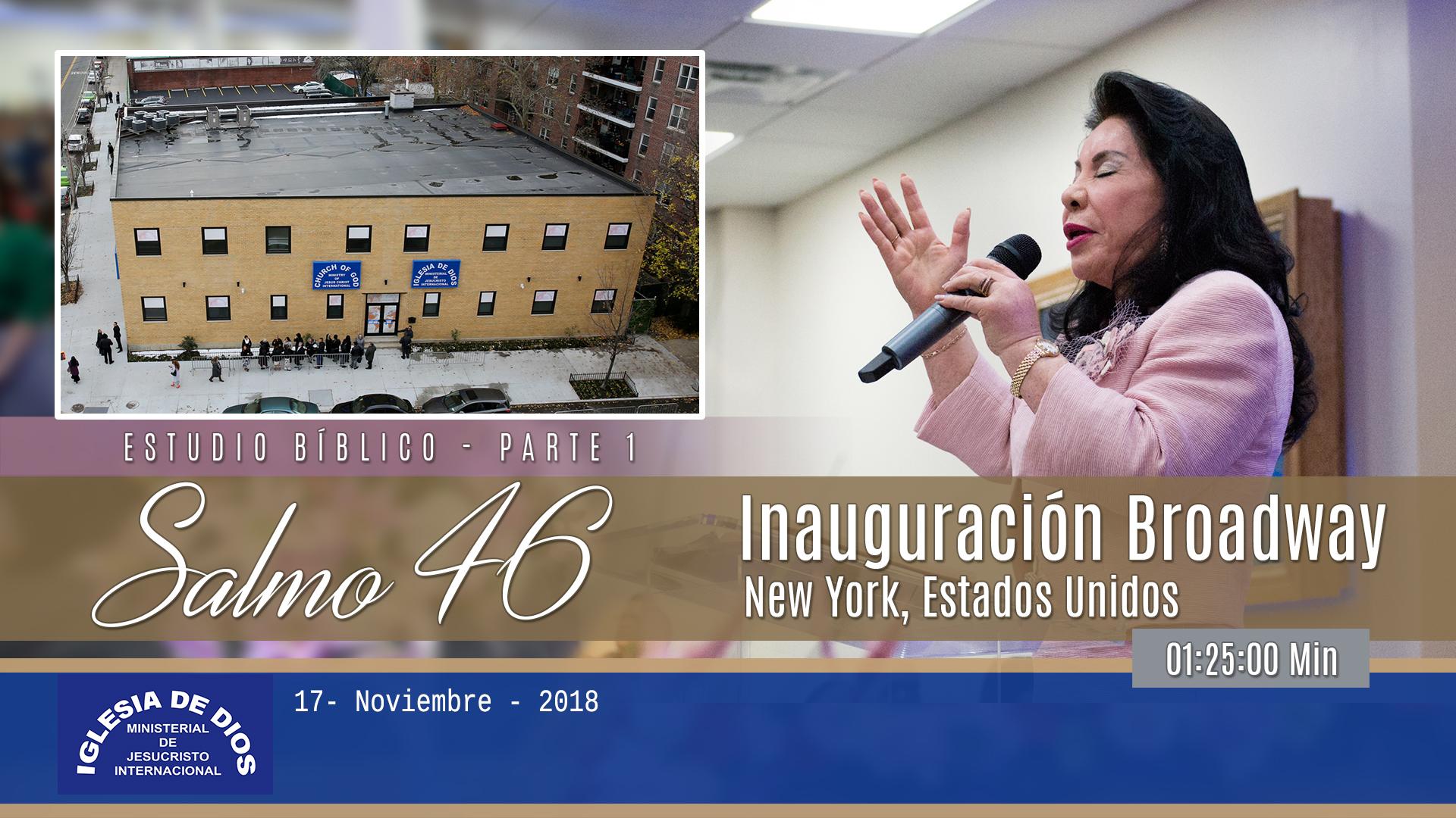 Inauguración Broadway, New York – USA, Parte 1