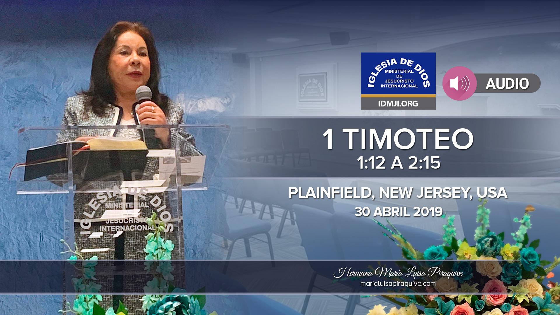 Audio: 1 Timoteo 1:12 a 2:15