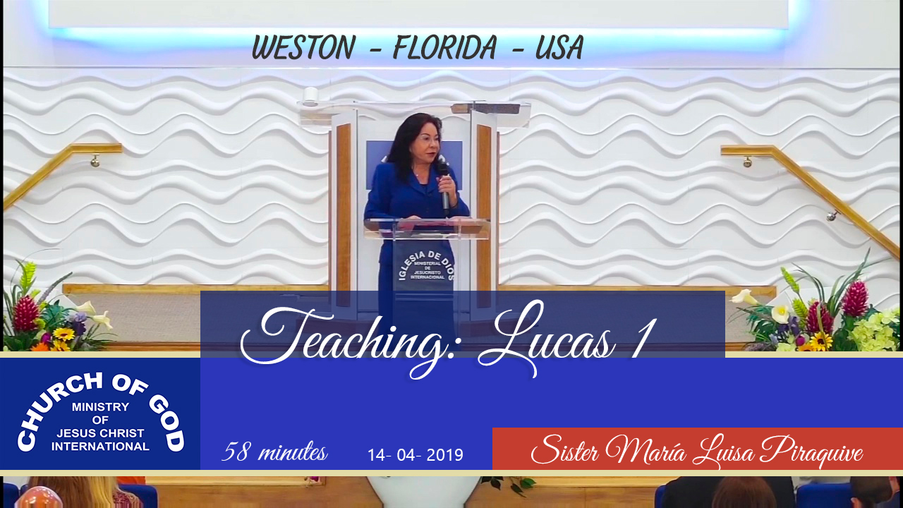 Teaching: Lucas 1 – Weston FL USA, Sister. Maria Luisa Piraquive.