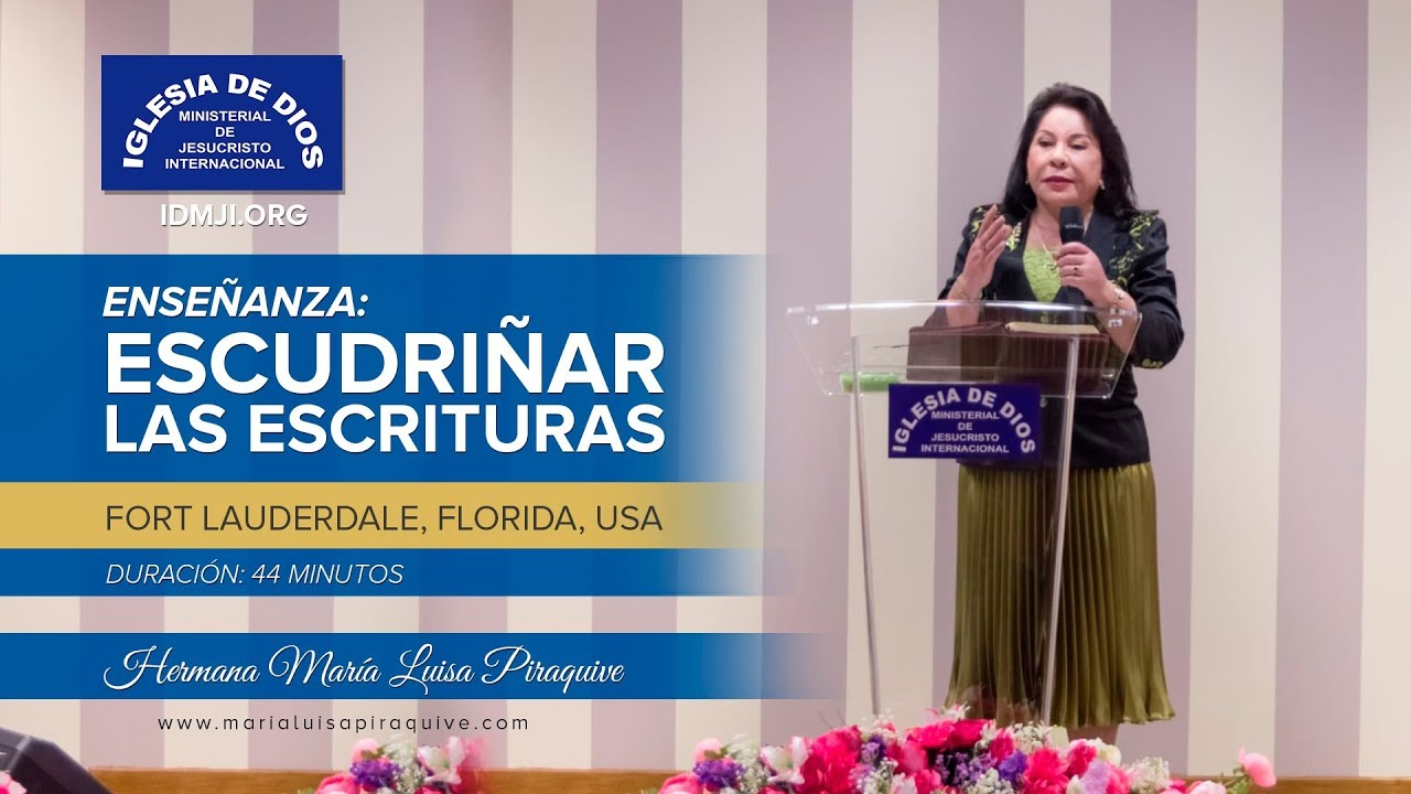 Enseñanza: Escudriñar las escrituras – Hna. María Luisa Piraquive