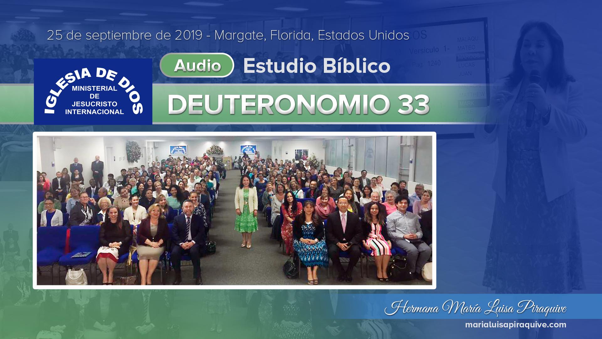 Audio: Estudio Bíblico Deuteronomio 33 – Hna. María Luisa Piraquive