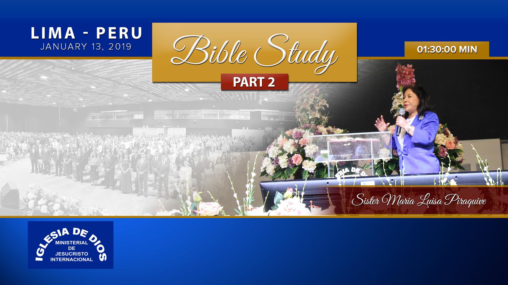 Bible study: Part 2, Lima Peru