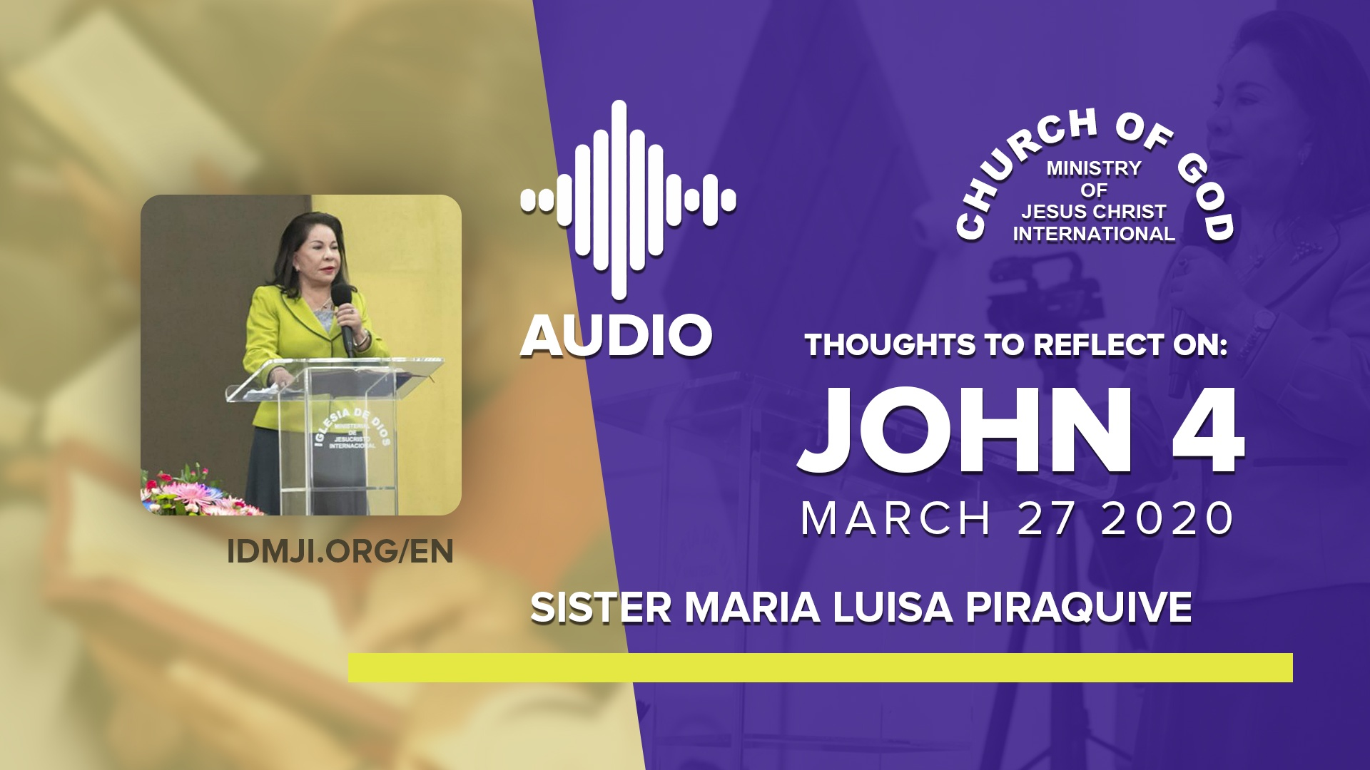 Thoughts to Reflect on: John 4 by Sister Maria Luisa Piraquive