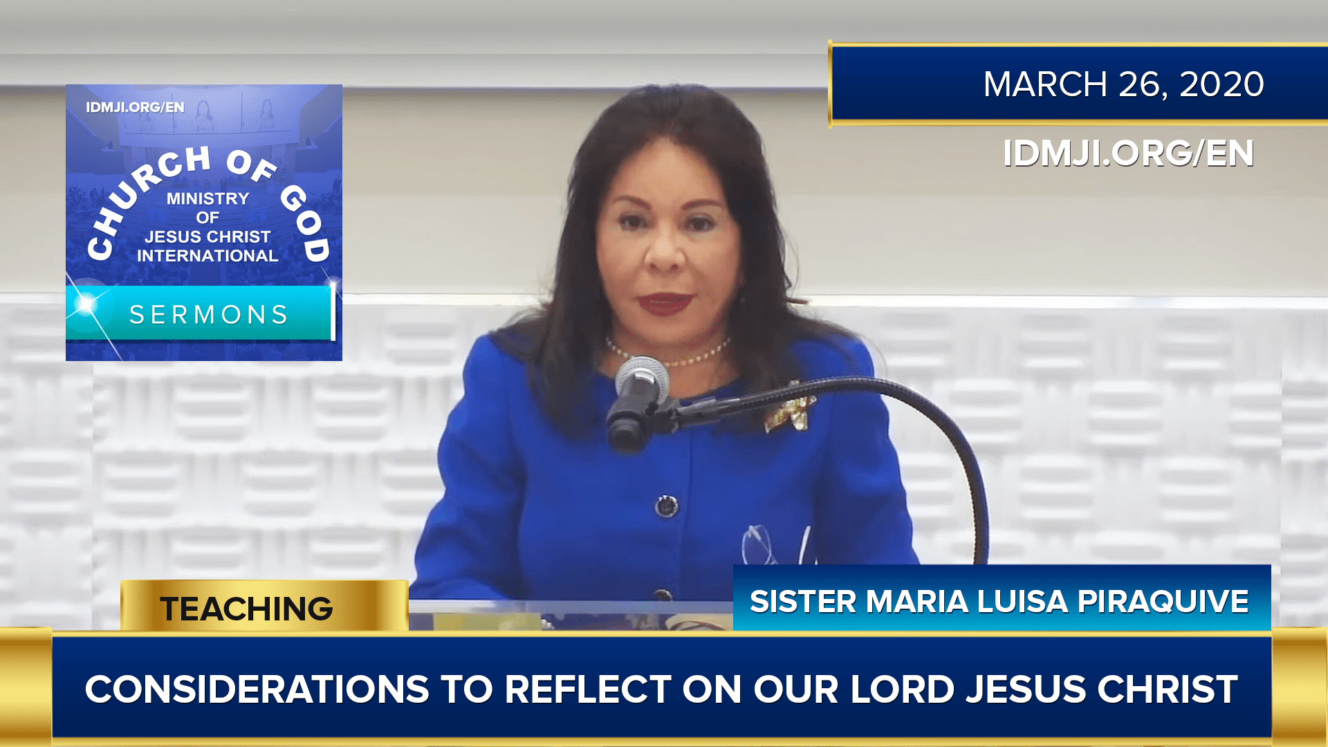 Considerations to Reflect on our Lord Jesus Christ at Weston, Florida, USA (3/27/2020) | Sister Maria Luisa Piraquive – CGMJCI