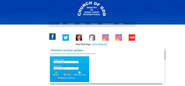 Temporary Website for the Church in the United States – cgmjciusa.com